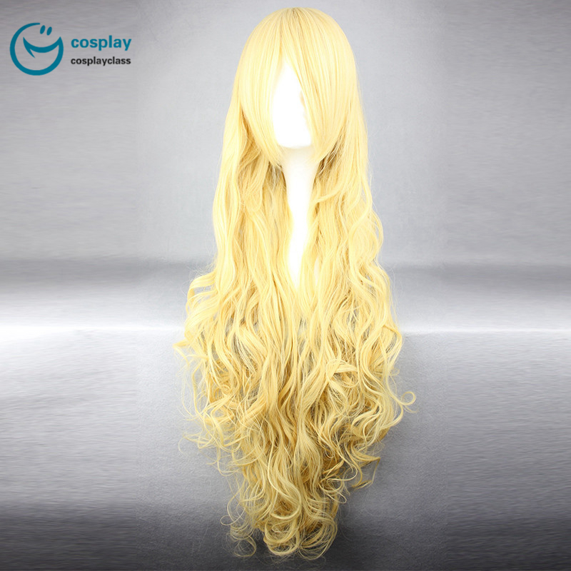 Assassination Classroom Irina Long Yellow Cosplay Wig