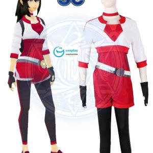Pokémon GO Pokemon Pocket Monster Trainer Female Red Cosplay Costume