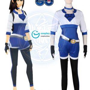 Pokémon GO Pokemon Pocket Monster Trainer Female Blue Cosplay Costume