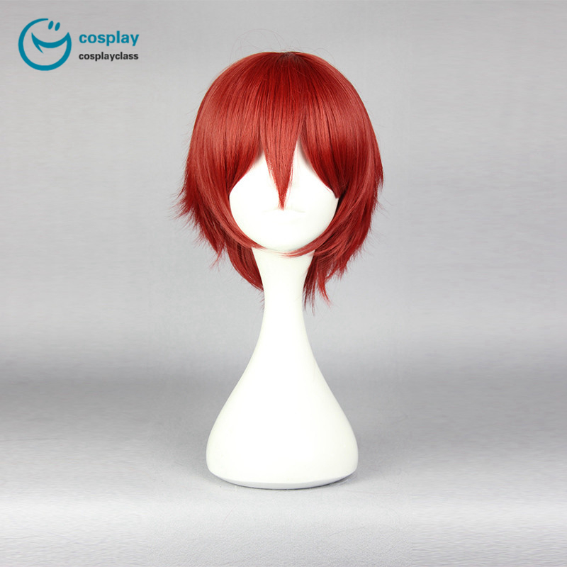 Assassination Classroom Akabane Karma Short Red Cosplay Wig