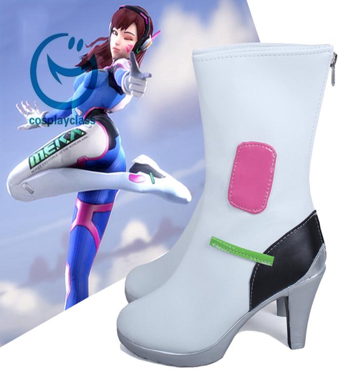Overwatch OW D.Va DVa Hana Song Cosplay Shoes