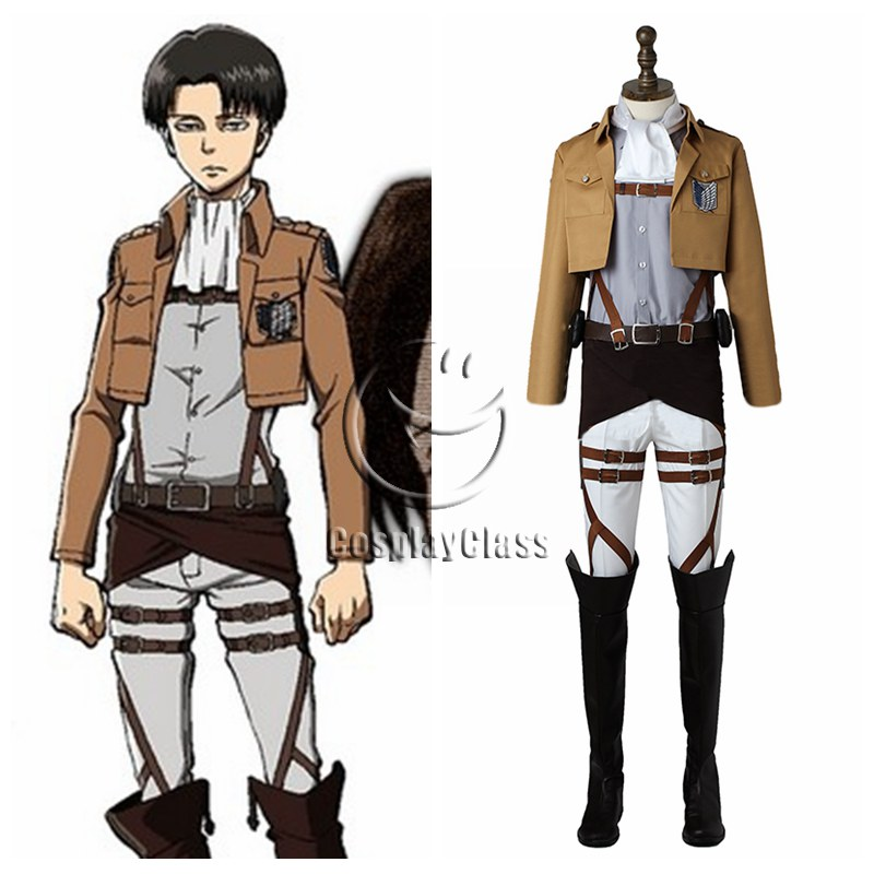 Attack On Titan Levi Ackerman Cosplay Costume