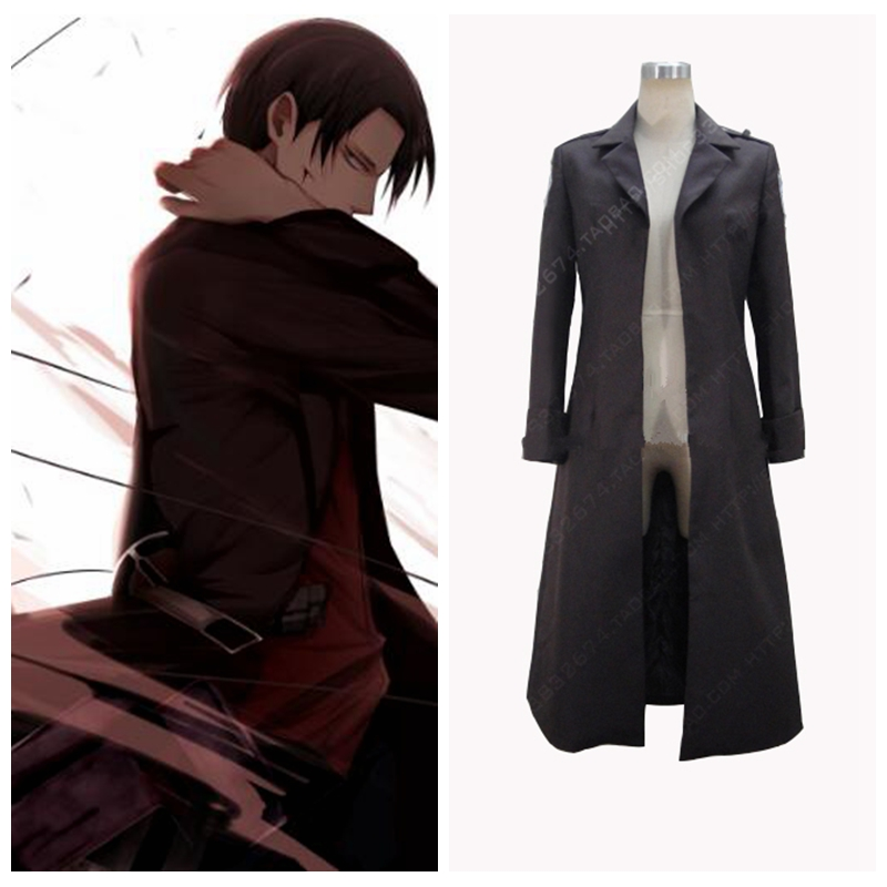 Attack On Titan Levi Ackerman Cosplay Costume Only Coat