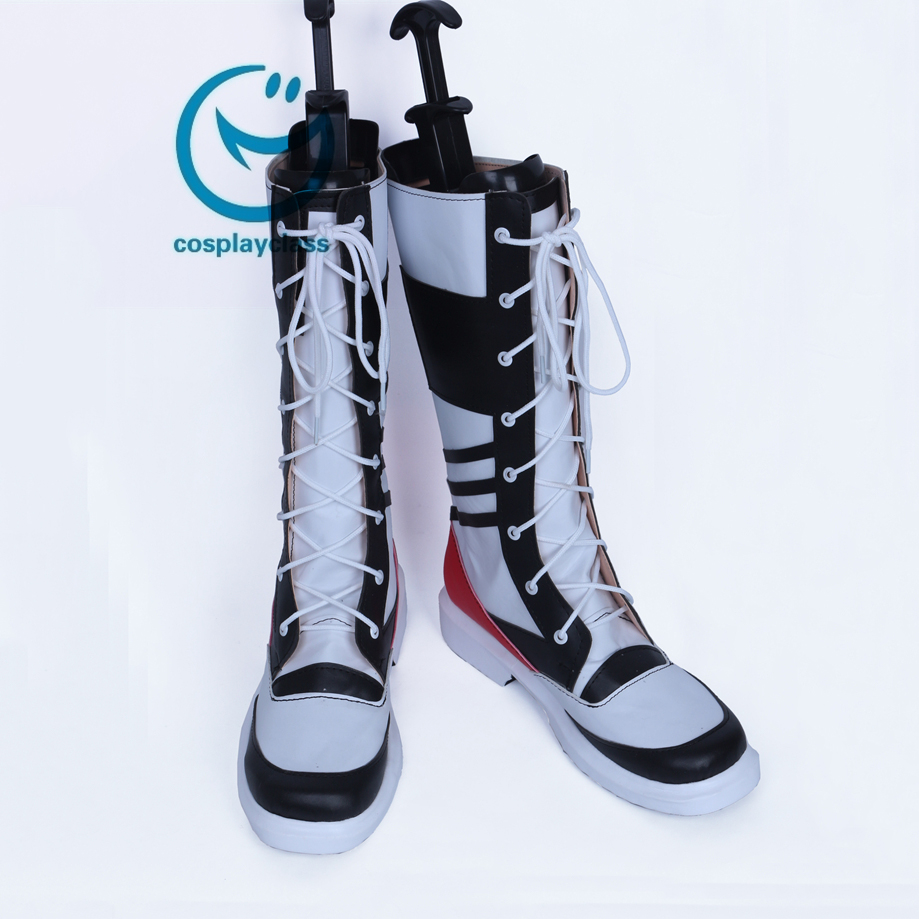 dea6882a662f DC Comics New Batman Suicide Squad Harley Quinn Black Shoes Cosplay Boots (Male)