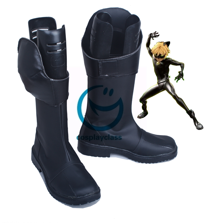 fa8b1d9580ae Miraculous Ladybug Adrien Cat Noir Shoes Cosplay Boots - CosplayClass