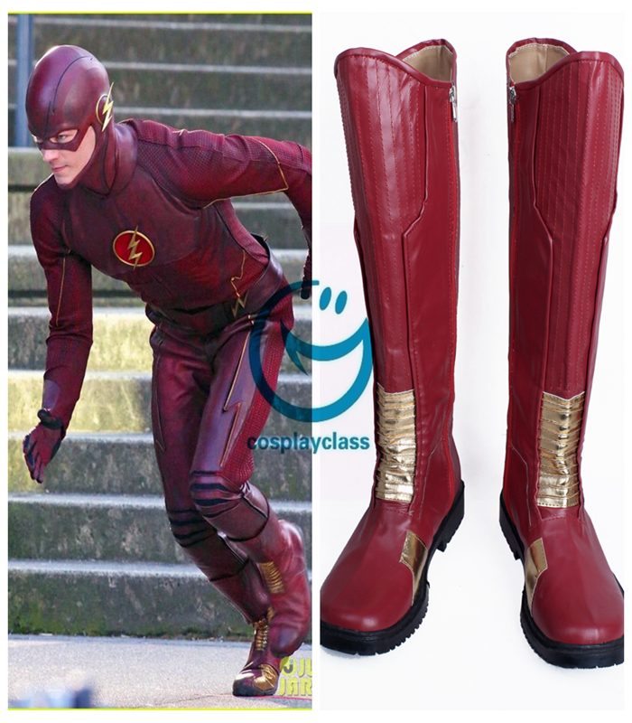 The Flash Barry Allen Cosplay Boots Shoes