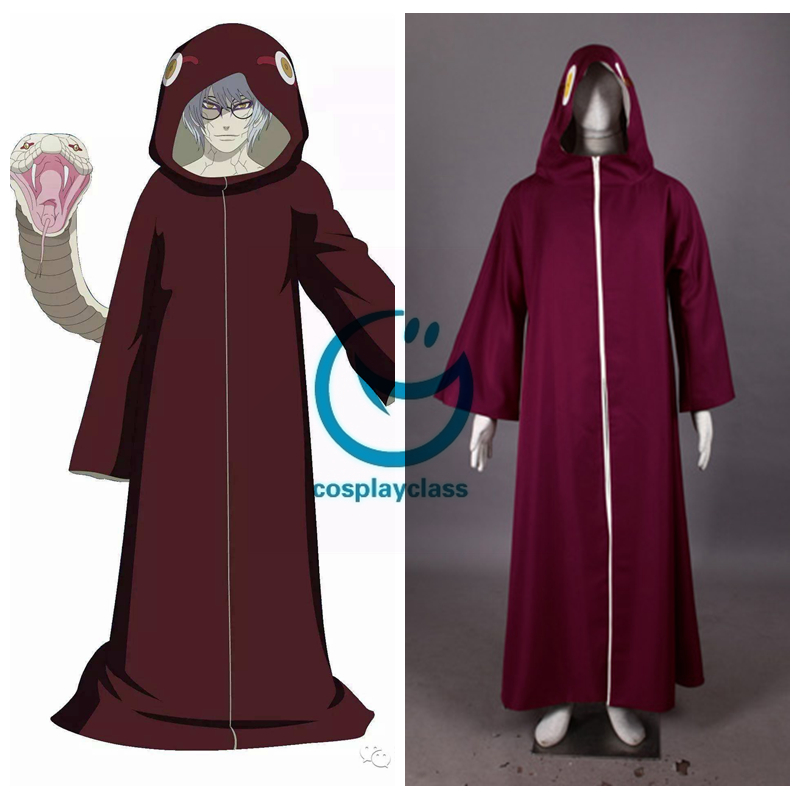 Naruto Cosplay Costume Yakushi Kabuto 2nd Any Size