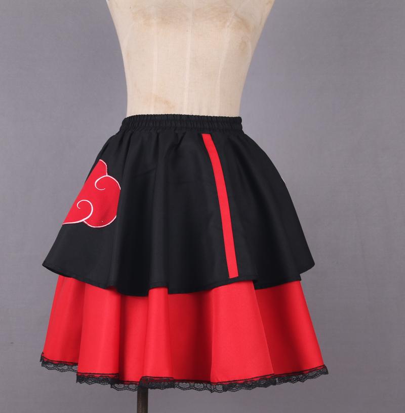 Anime Female Lolita Kimono Dress Shippuden Akatsuki Organization Cosplay Costume
