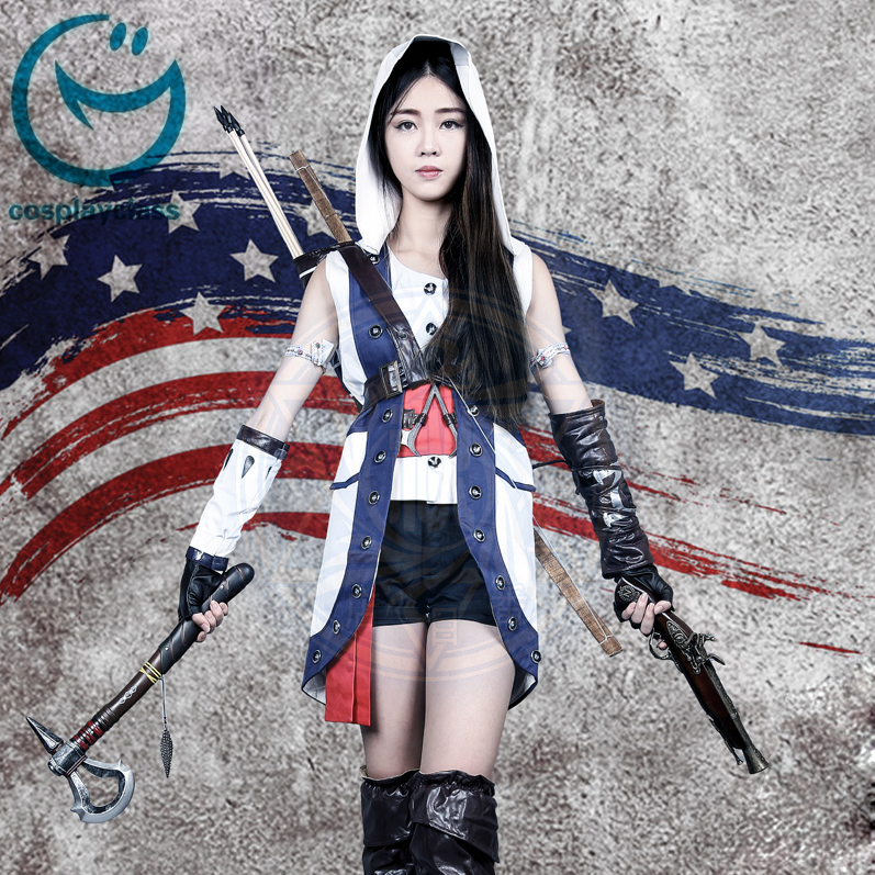 Assassin S Creed Iii Connor Female Uniform Game Cosplay Costume