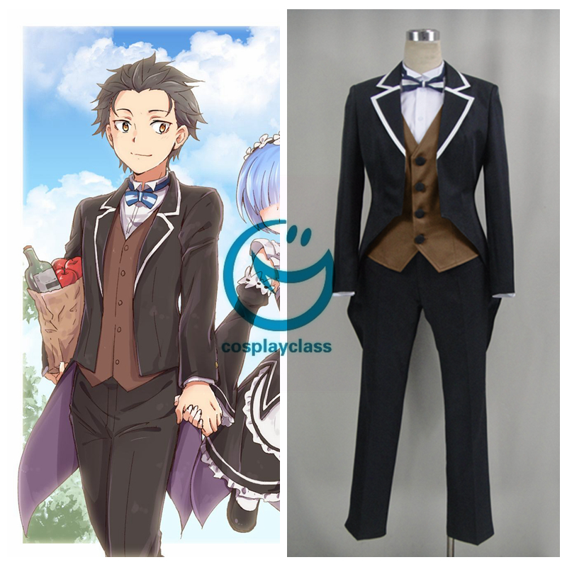 Re Life In A Different World From Zero Natsuki Subaru Suit Cosplay