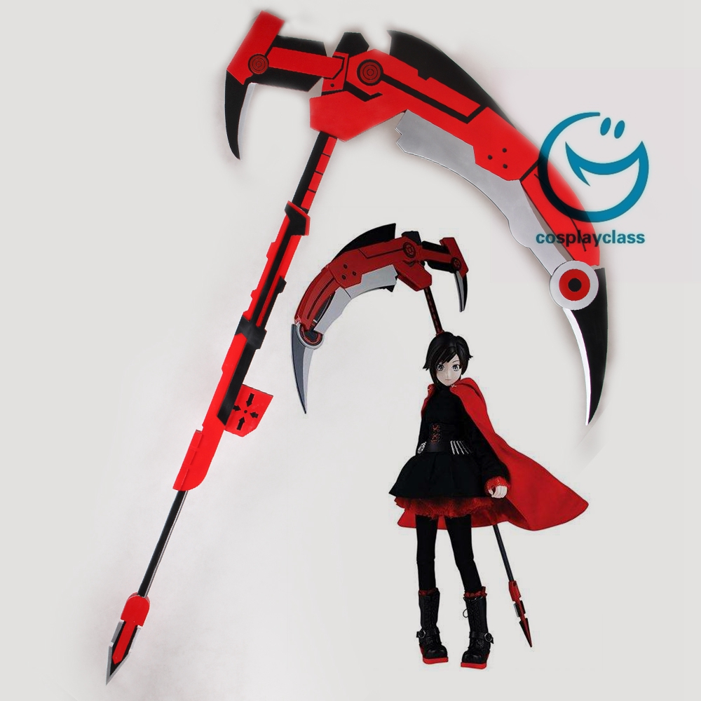 RWBY Leader of Team RWBY Ruby Rose High Caliber Sniper Scythe HCSS Crescent Rose Cosplay Weapon Prop
