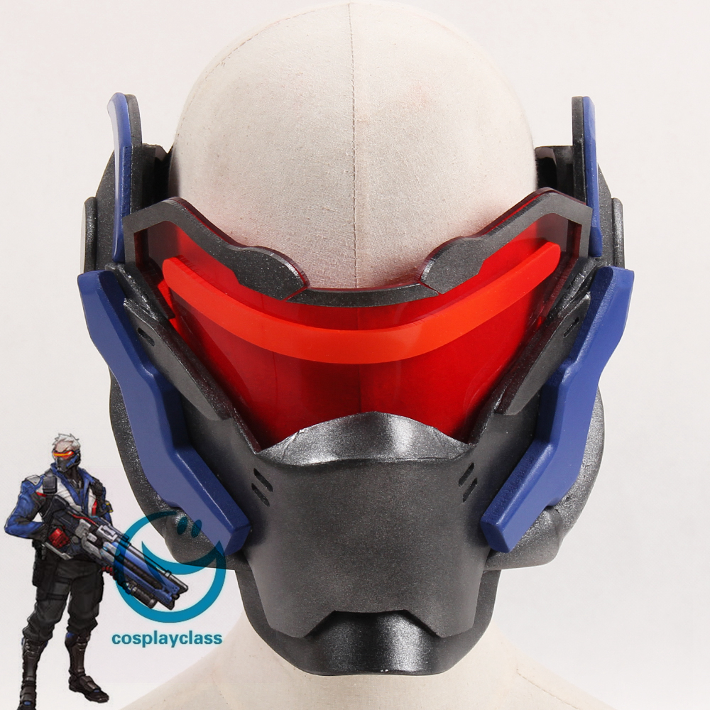 667e2f8221c Overwatch OW Soldier 76 John Jack Morrison Mask Cosplay Accessory ...