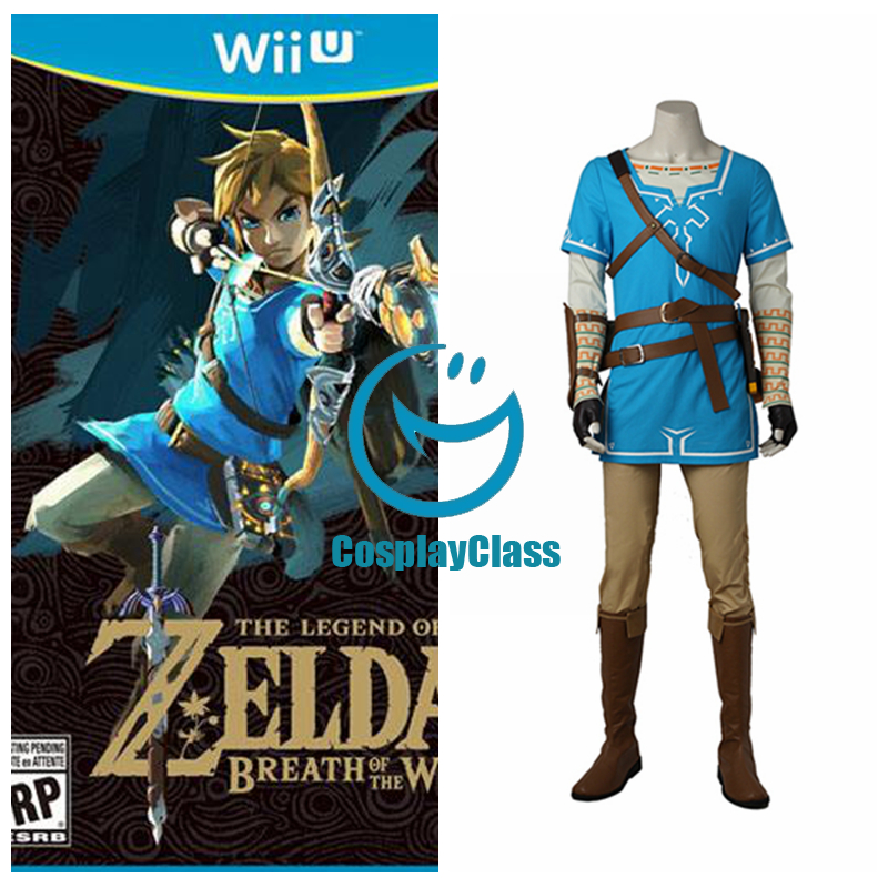 Legend Of Zelda Breath Of The Wild Link Cosplay Costume