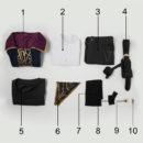 cos11270 Dishonored 2 Emily Drexel Lela Kaldwin Veil Cosplay Costume (3)
