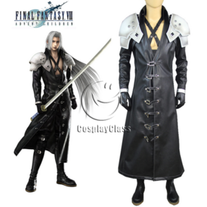 cos11345 Final Fantasy VII FF7 Sephiroth Cosplay Costume (1)