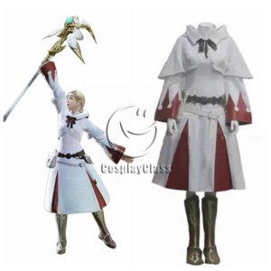 cos11346 Final Fantasy XIV FF14 White Mage Cosplay Costume (1)
