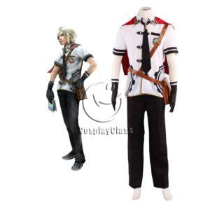 cos11347 Final Fantasy Type-0 Suzaku Peristylium Class Zero NO.1 Ace Summer School Uniform Cosplay Costume (1)