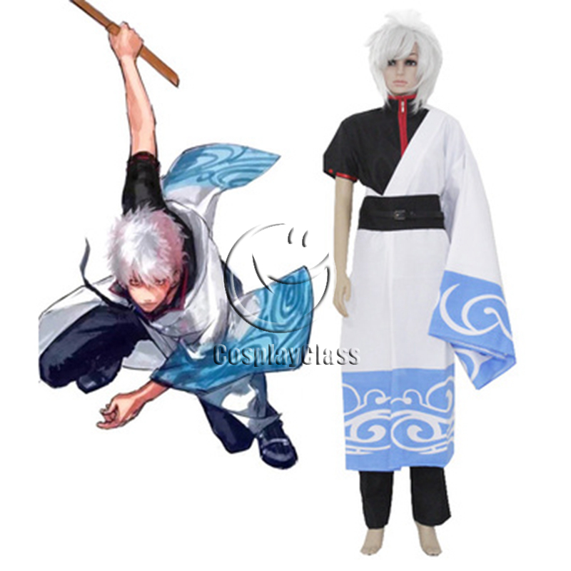 1d792b7c8 Gintama Silver Soul Gintoki Sakata Kimono Cosplay Costume – CosplayClass