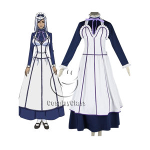cos11350 Black Butler Kuroshitsuji Emma Maid Dress Cosplay Costume (1)