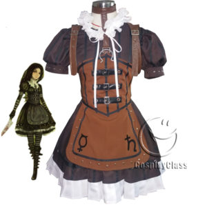 cos11352 Alice Madness Returns Steampunk Alice Cosplay Costume (1)