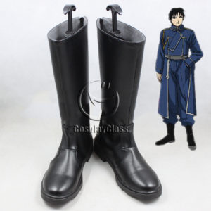 cw11468 Fullmetal Alchemist Roy Mustang Cosplay Boots