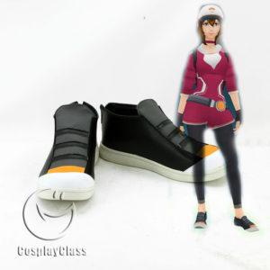 cw11507 Pokémon GO Pokemon Pocket Monster Trainer Female Cosplay Shoes (1)