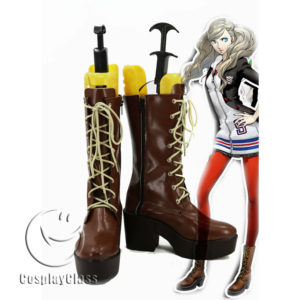 cw11510 Persona 5 P5 PANTHER Takamaki Ann Cosplay Boots (1)