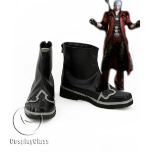cw11534 Devil May Cry 4 DMC4 Dante Cosplay Shoes (1)
