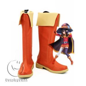 cw11555 Kono Subarashii Sekai ni Shukufuku o! Megumin Cosplay Boots (1)
