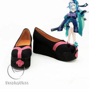 cw11556 Onmyoji Aoandon Cosplay Shoes (1)