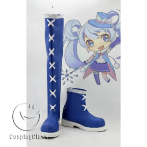 cw11595 Snow Miku Cosplay Boots (1)