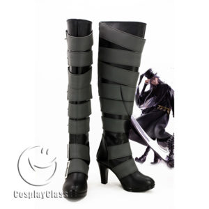 cw11684 Black Butler Under Taker Cosplay Boots (1)