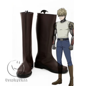 cw11709 One Punch Man Genos Cosplay Boots (1)