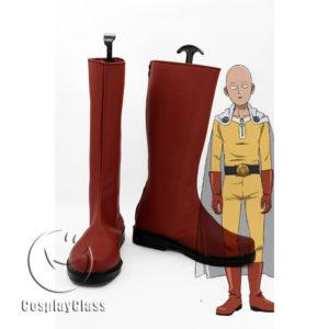 cw11710 One Punch Man Saitama Cosplay Boots (1)