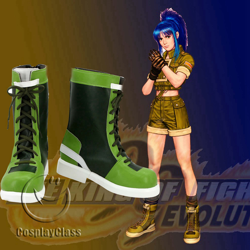 cw11715 King of Fighters '96 Leona Heidern Cosplay Shoes ...