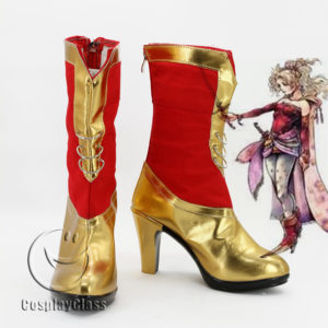 cw11717 DISSIDIA FINAL FANTASY Cosplay Boots (1)