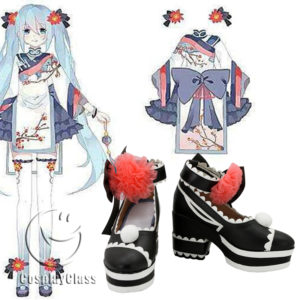 cw11734 Vocaloid V MIKU Cosplay Shoes (1)