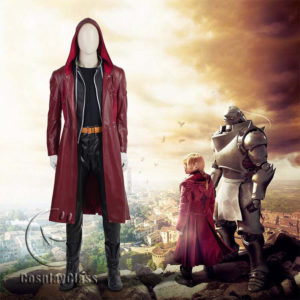 cos11358 Fullmetal Alchemi Movie Edward Elric Cosplay Costume(Include shoes) (1)