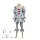 cos11359 Stephen King's It 2017 Movie Clown Cosplay Costume(Include shoes) (3)