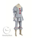 cos11359 Stephen King's It 2017 Movie Clown Cosplay Costume(Include shoes) (4)