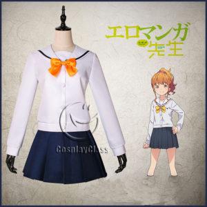 cos11361 Eromanga-sensei Jinno Megumi Sailor Uniform Cosplay Costume (1)