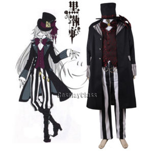 cos11380 Black ButlerⅡ Kuroshitsuji Grim Reapers Under Taker Suit Cosplay Costume (1)