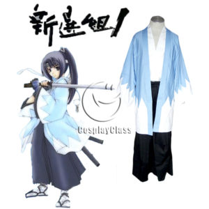 cos11381 Hakuouki Shinsengumi Team Uniform Kimono Anime Cosplay Costume (1)