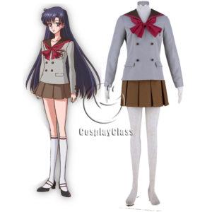 cos11384 Sailor Moon Crystal Sailor Mars Hino Rei Winter School Uniform Anime Cosplay Costume (1)