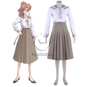 cos11386 Sailor Moon Crystal Sailor Jupiter Kino Makoto Summer School Uniform Anime Cosplay Costume (1)