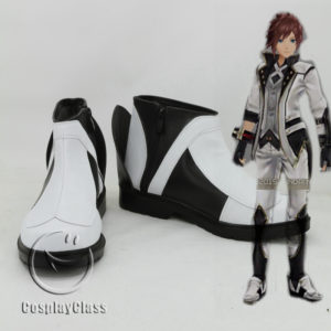 cw11786 God Eater 2 Protagonist Male White Cosplay Shoes (1)