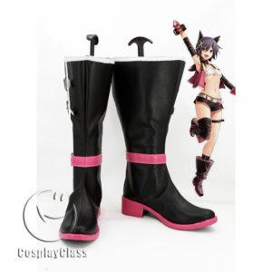 cw11791 God Eater 2 Cagetsu Nana Cosplay Boots (1)