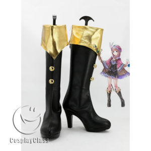 cw11793 Atelier Totori The Adventurer of Arland Rororina Fryxell Cosplay Boots (1)