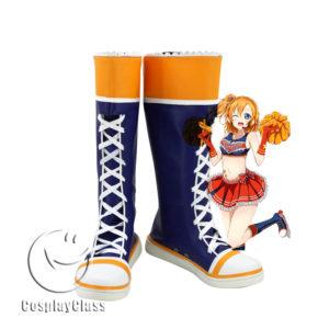 cw11806 LoveLive! Cheerleaders Honoka Kousaka Cosplay Boots (1)