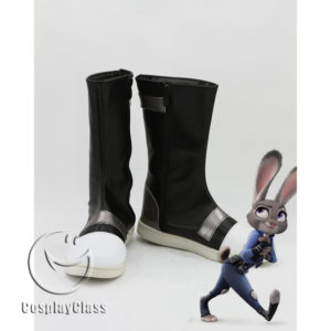 cw11808 Zootopia Zootropolis Judy Cosplay Boots (1)